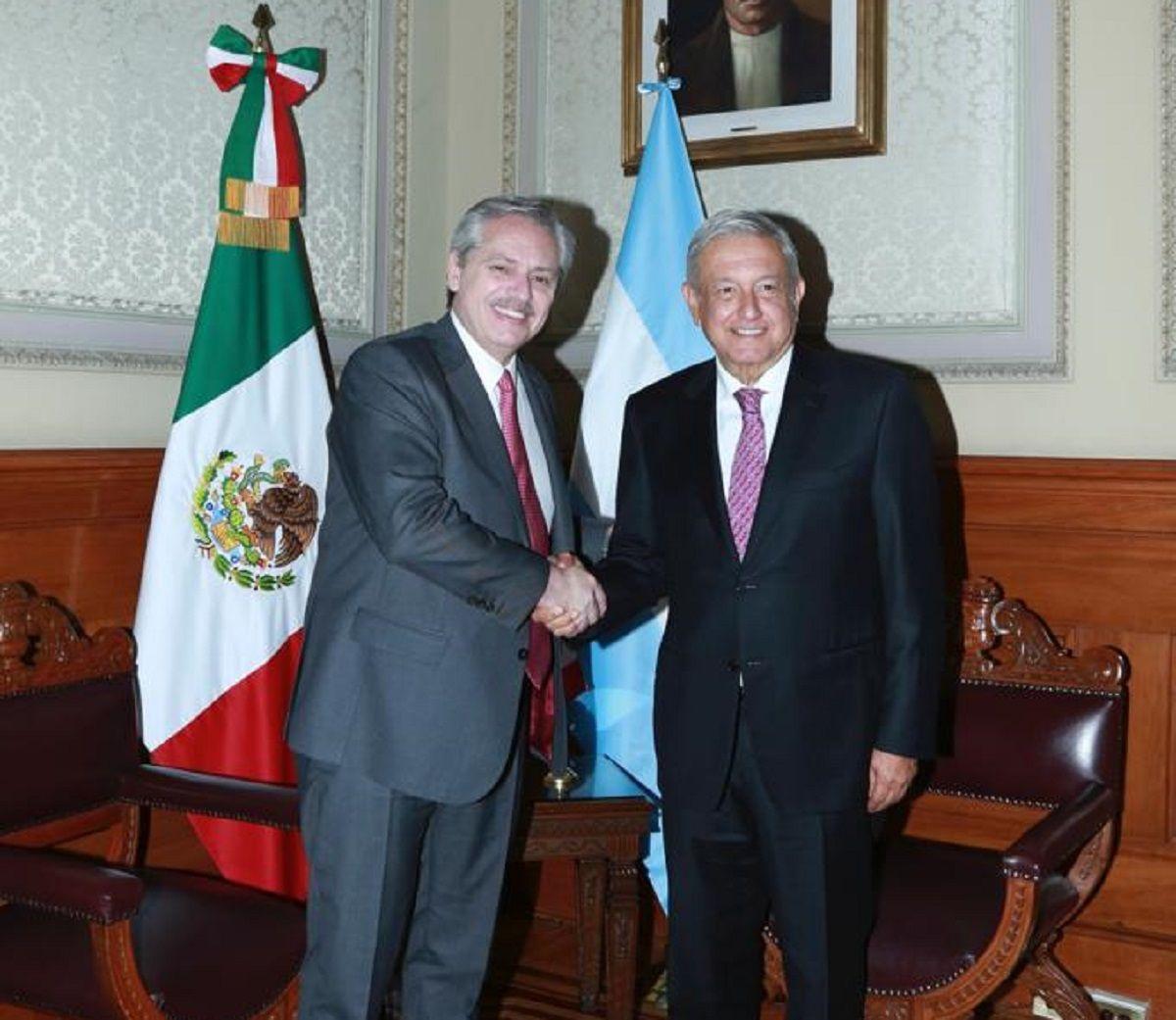 Alberto Fernández se reunió con López Obrador