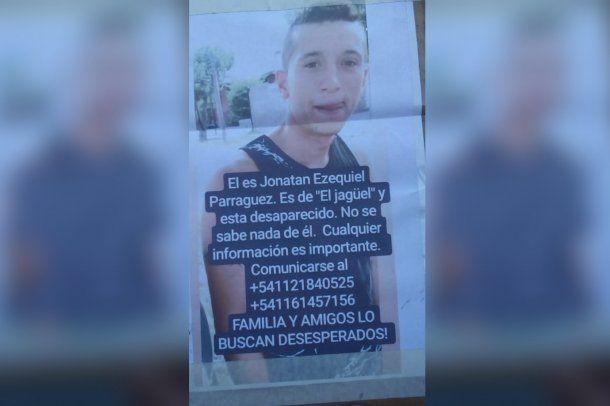 Jonatan Ezequiel Parraguez, tiene 29  años y está desaparecido desde el 13 de agosto