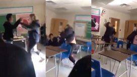 Escándalo en una escuela: una profesora se agarró a las piñas con un alumno
