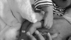 Publicaron la primera foto de Rodrigo, el bebé sin rostro