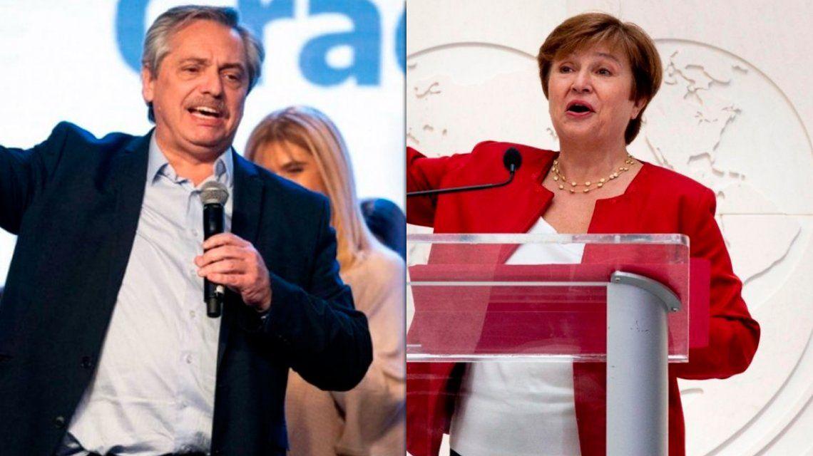 Alberto Fernández habló con Georgieva y le propuso pagar al FMI, pero sin ajuste