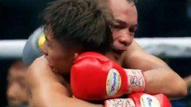Prometió el título a sus hijos, perdió, pero su rival tuvo un gesto emotivo