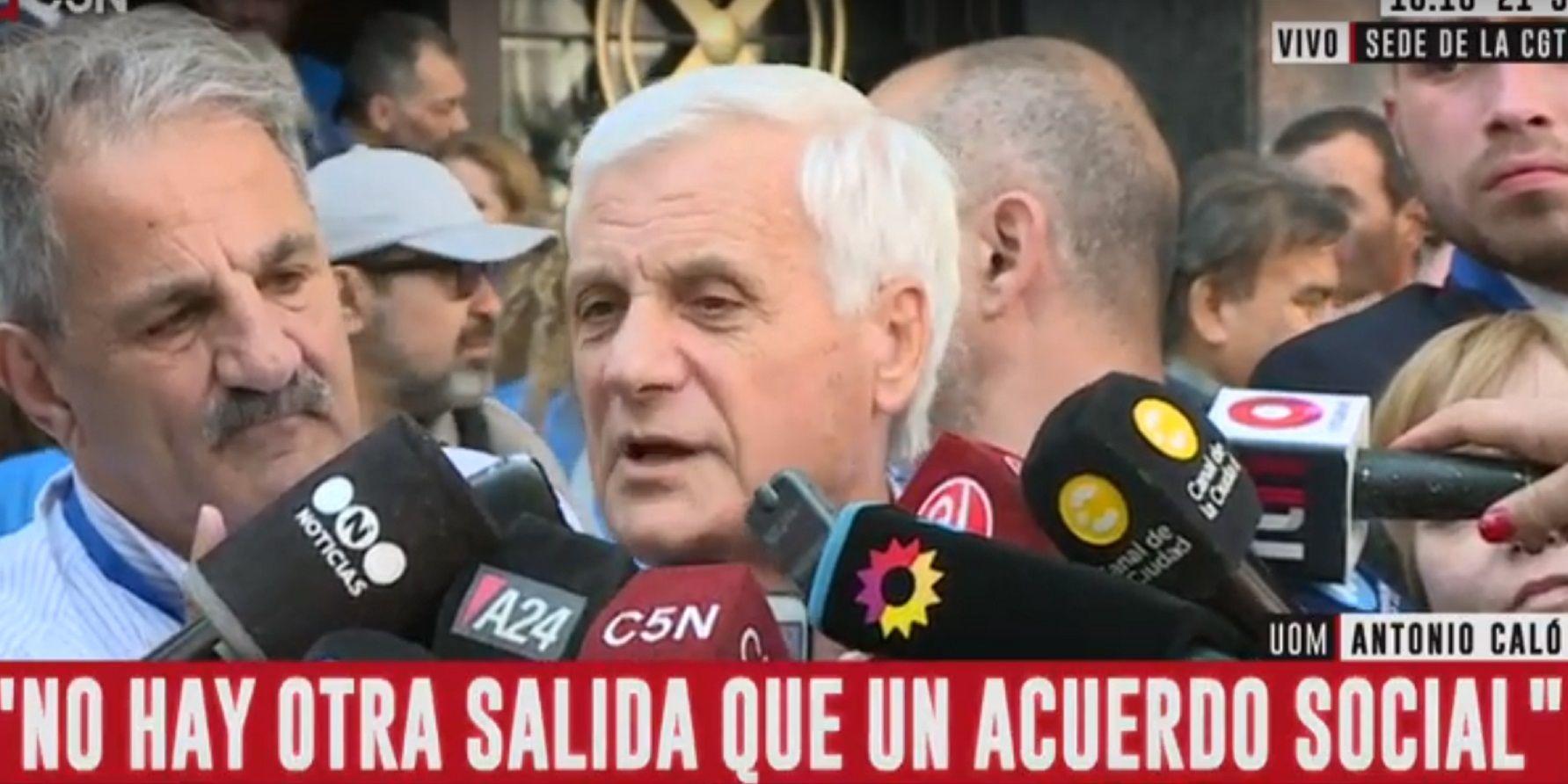 Antonio Caló y la voluntad de la CGT de trabajar con el presidente electo: Alberto nos puede sacar de la crisis