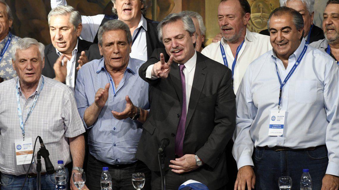 Alberto Fernández con la CGT: El movimiento obrero es parte del gobierno que se viene