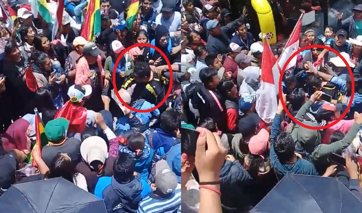 VIDEO: Atacaron y retuvieron al presidente de la Cámara de Diputados