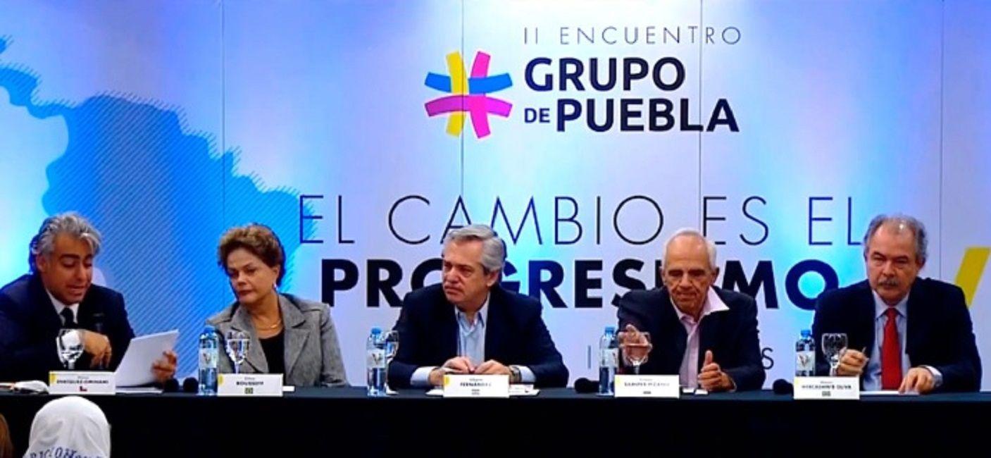 El Grupo de Puebla llamó a respetar el orden constitucional y la democracia en Bolivia