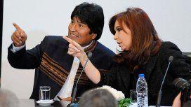 Cristina Kirchner, junto a Evo Morales