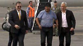 Protestas e incidentes en la llegada de Evo Morales a México