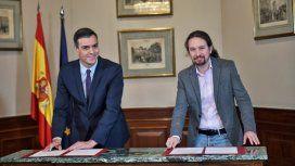 El Presidente de España cerró un preacuerdo para un Gobierno de coalición progresista
