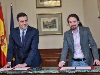 el presidente de espana cerro un preacuerdo para un gobierno de coalicion progresista