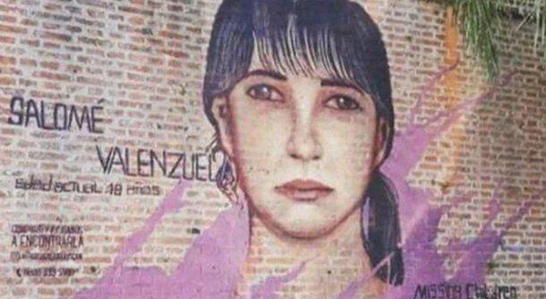 El mural que pintaron de Salomé. Foto: Twitter/@diarioefectosm