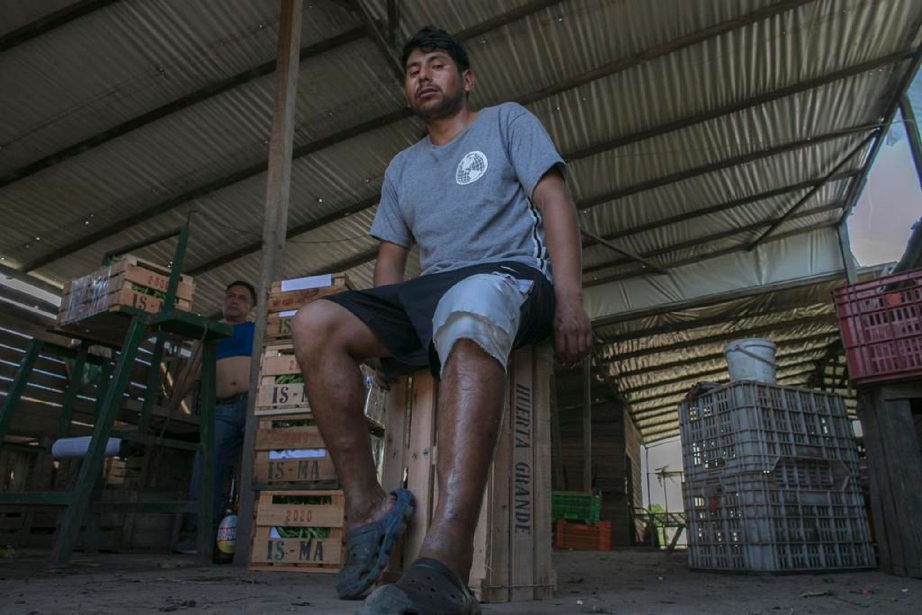 Omar Cruz fue baleado en una pierna en un asalto en Los Hornos. Foto: El Día