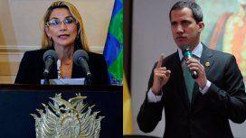 La autoproclamada presidenta de Bolivia reconoció a Guaidó como mandatario de Venezuela