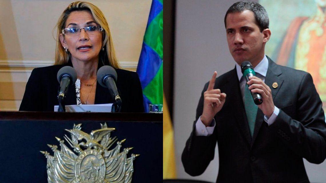 Jeanine Añez reconoció a Juan Guaidó como presidente de Venezuela