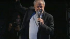 Lula en su primer acto público