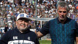 Diego Maradona y Gabriel Pellegrino
