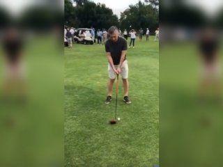 macri se despidio de sus vacaciones presidenciales jugando golf en cordoba