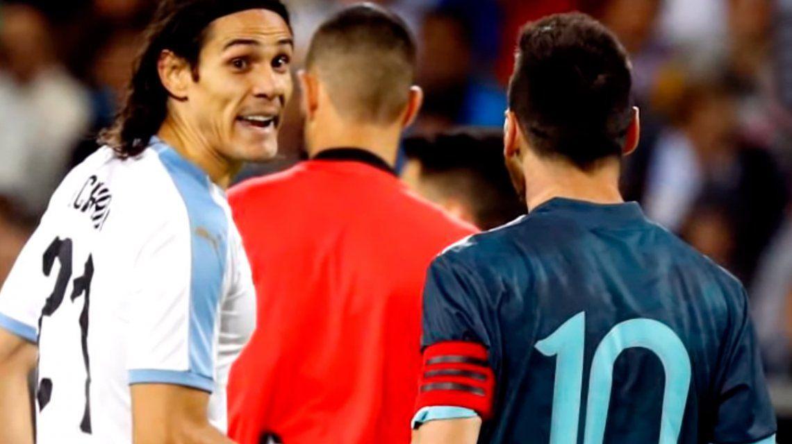 Cavani habló sobre su pelea con Messi en el duelo entre Argentina y Uruguay: Y sí, se picó