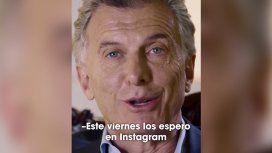 Macri llamó a tener una conversación entretenida, divertida y constructiva por Instagram