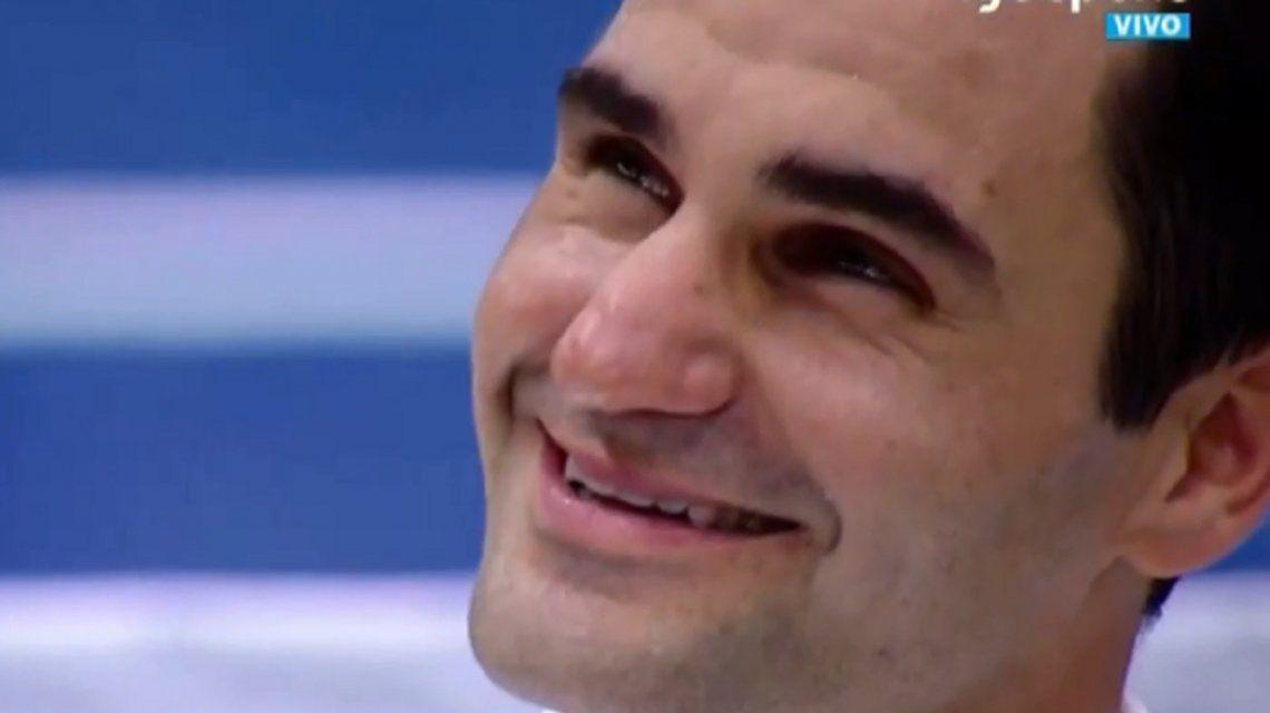 El emotivo mensaje de Maradona que hizo llorar a Federer en el Parque Roca