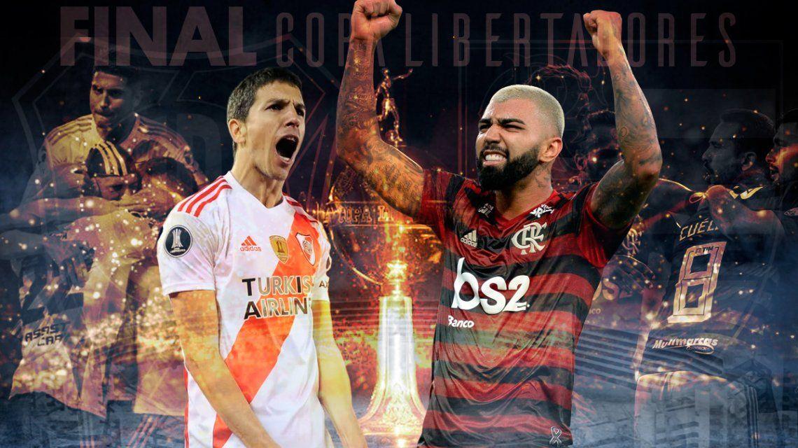 River vs. Flamengo por la final de la Copa Libertadores: horario, formaciones y TV