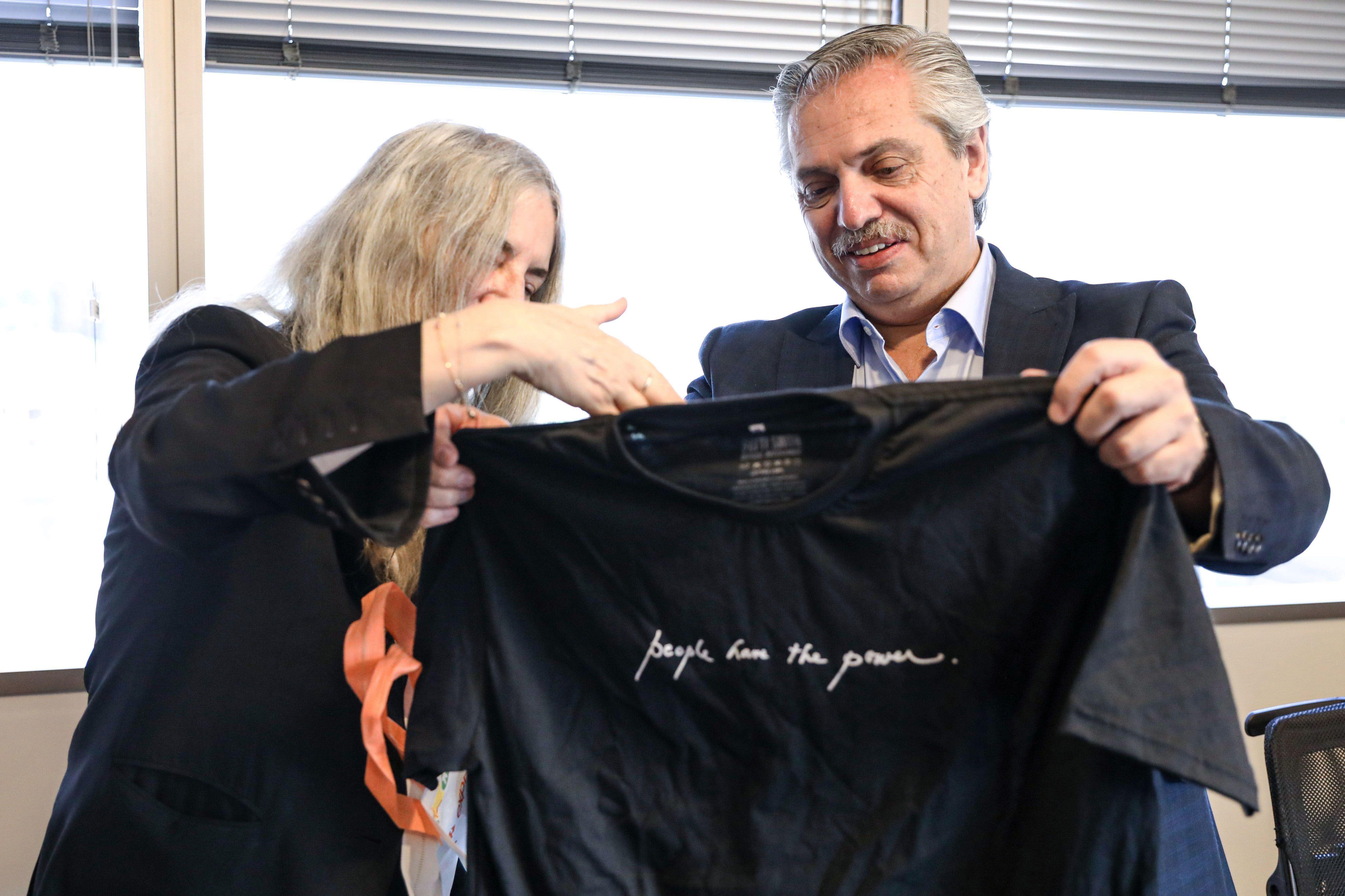 El encuentro entre Alberto Fernández y la cantante y activista Patti Smith