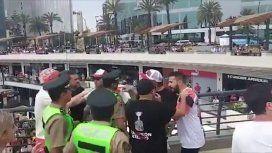 Racismo: hincha de River hizo gesto de macaco a los de Flamengo