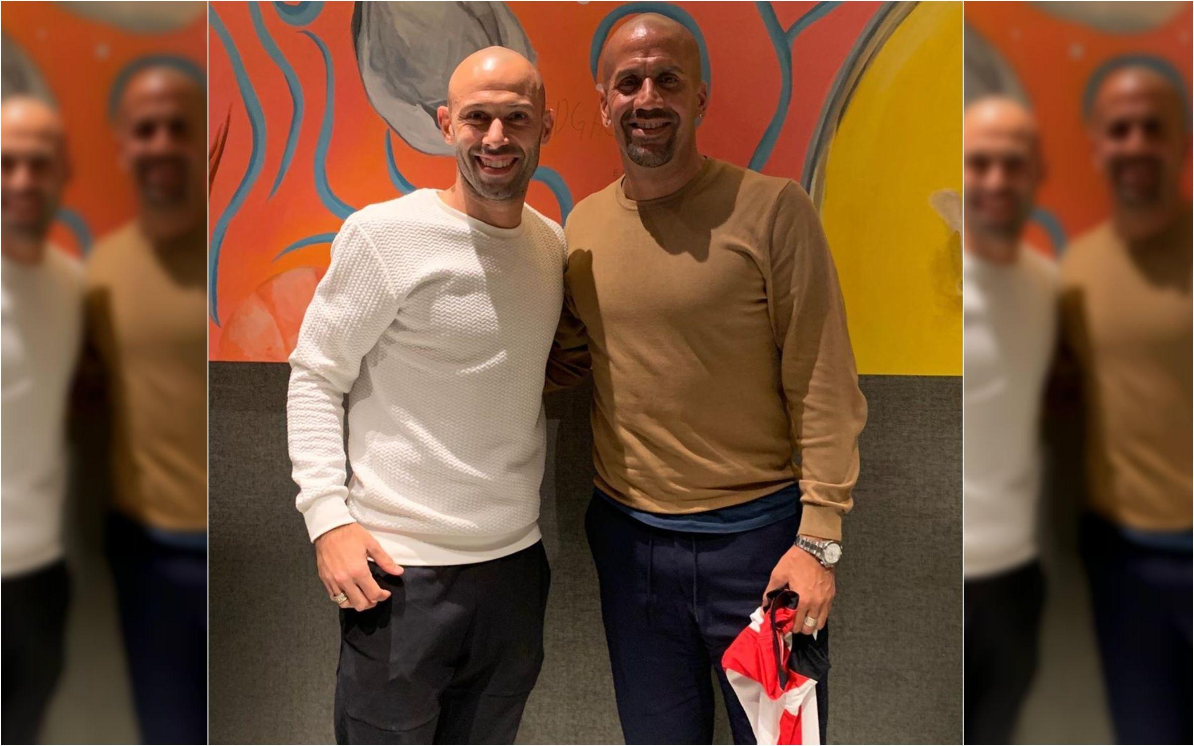 Javier Mascherano y Juan Sebastián Verón
