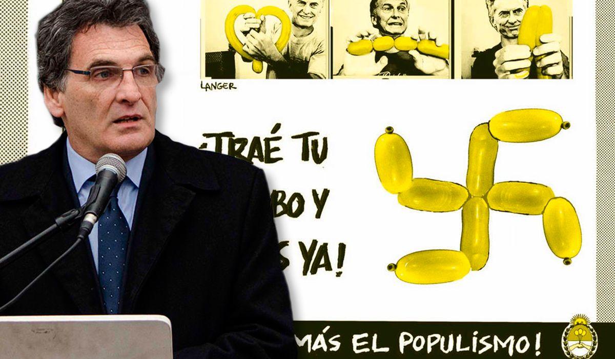Claudio Avruj repudió al humorista gráfico que comparó a la marcha de Macri con el nazismo