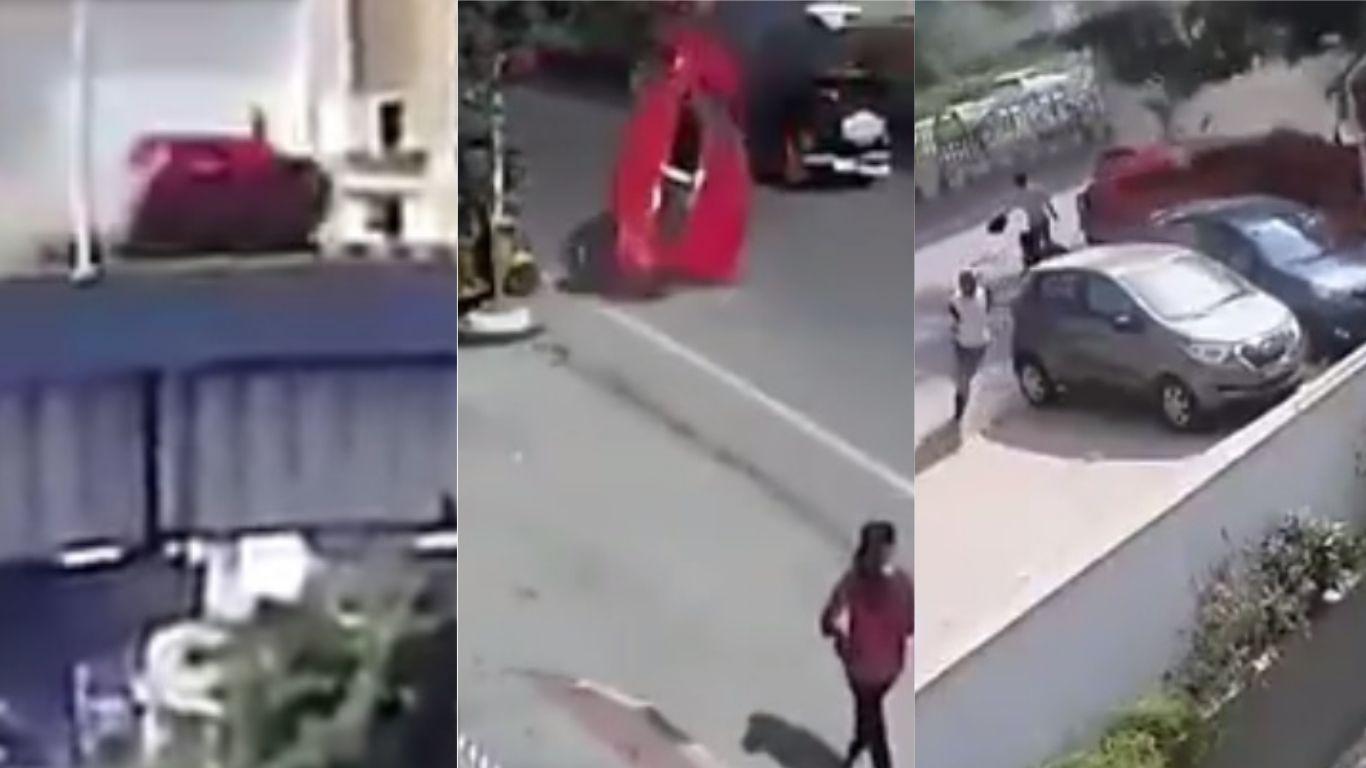 VIDEO: Una mamá murió y seis personas resultaron heridas por un auto que cayó de una autopista