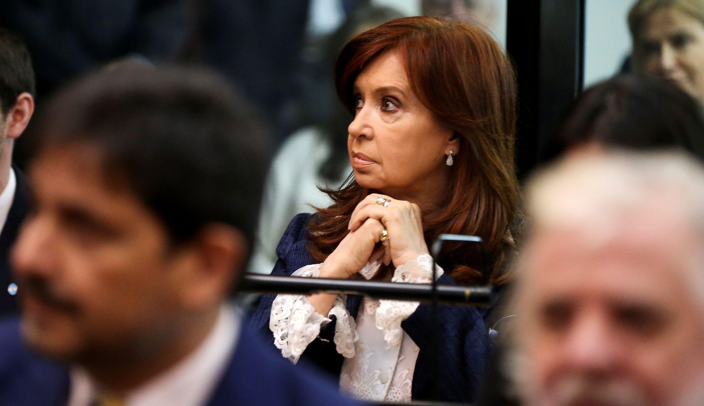 Cristina Kirchner en el inicio del juicio