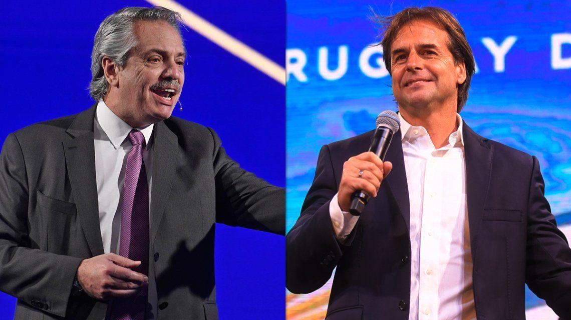 Alberto Fernández felicitó a Luis Lacalle Pou por el triunfo en las elecciones de Uruguay