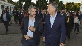 Marcos Peña y Mauricio Macri