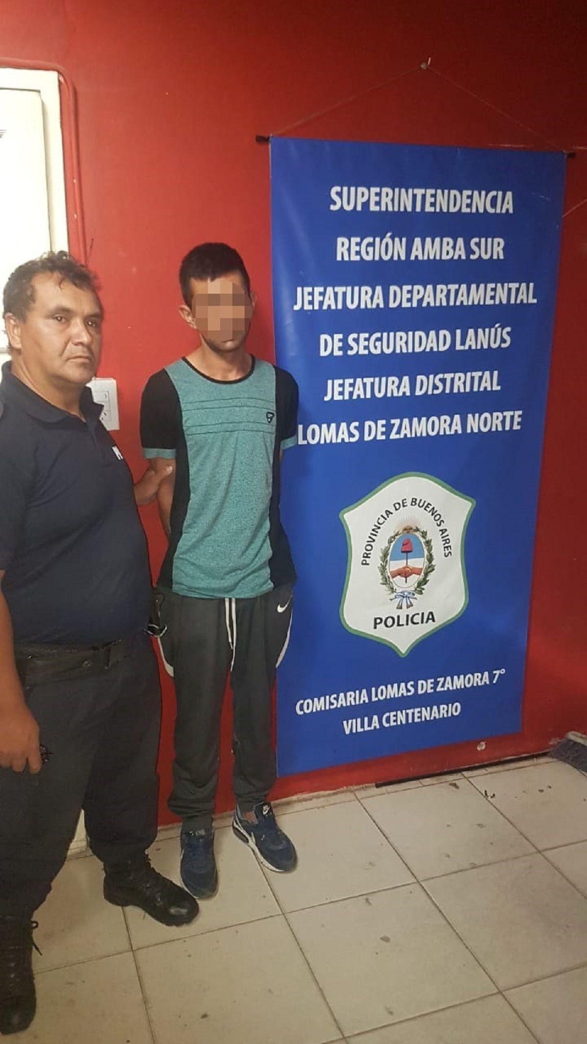 Detuvieron a un sospechoso por balear en la cabeza a un joven en Lomas de Zamora