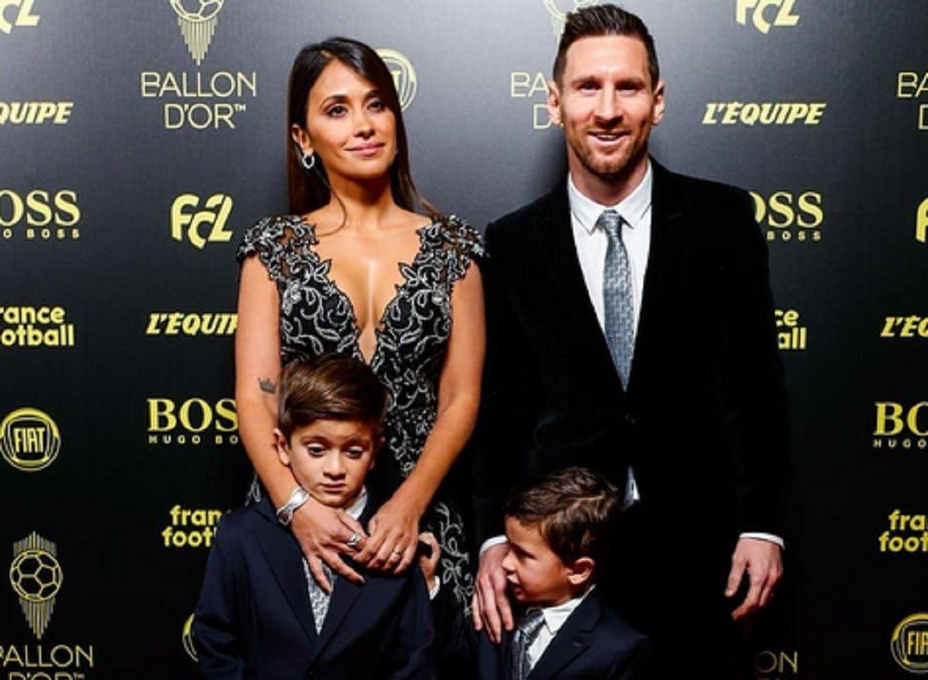 Los looks de Lionel Messi y Antonela Roccuzzo en la entrega del Balón de Oro