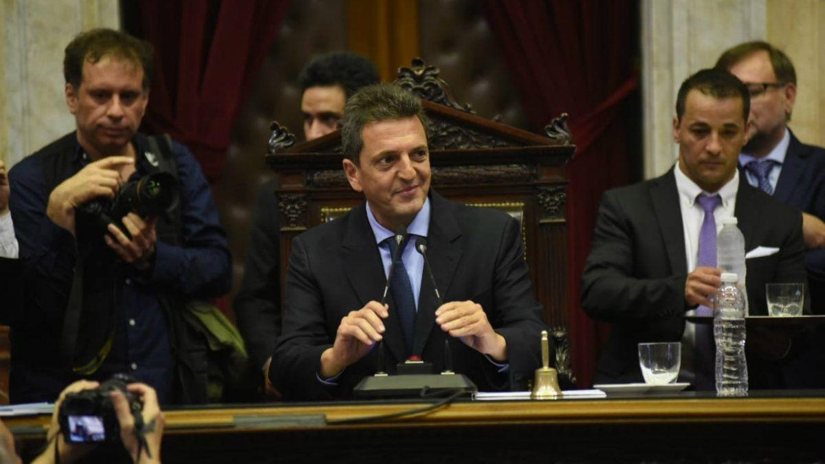 Sergio Massa es el nuevo presidente de la Cámara de Diputados