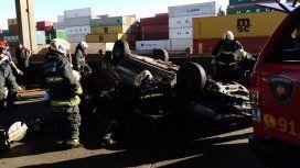 Una joven murió tras un choque y vuelvo en el Puente Avellaneda. Foto: @EmergenciasBA