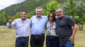 Alberto Fernández en Catamarca junto a Lucía Corpacci y Raúl Jalil