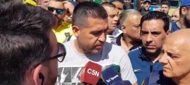 Juan Román Riquelme el día de las elecciones en Boca: el encargado del fútbol llamó a Carlos Tevez y avanzaron en su renovación