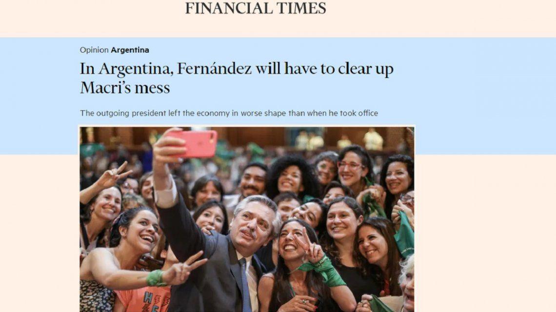 Alberto Fernández deberá limpiar el desastre de Macri