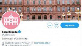 La cuenta oficial de la Casa Rosada se despidió con una cita de la Biblia