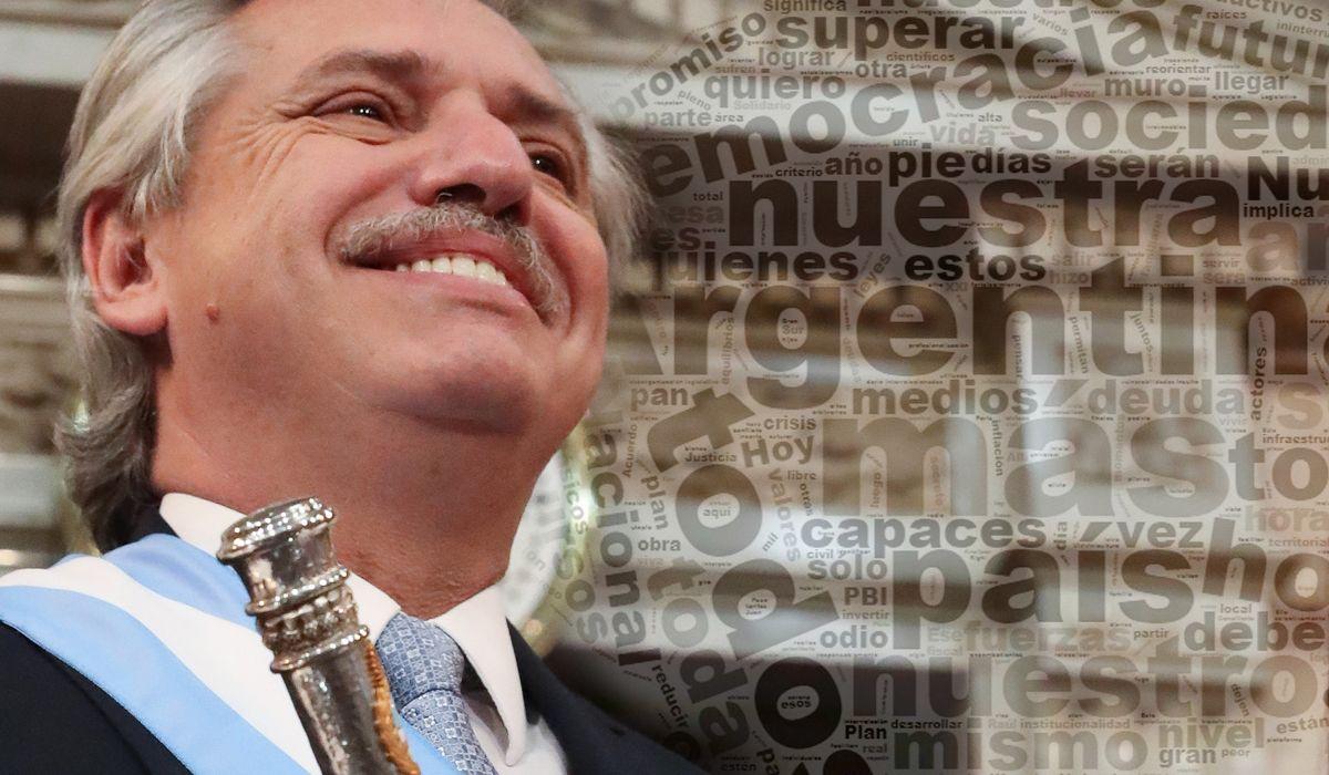 Argentina y todos, las palabras más usadas por Alberto en su discurso inaugural