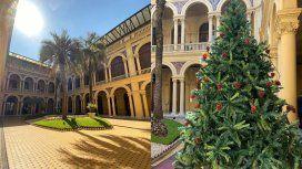 Así recibió la Casa Rosada a Alberto: ni adornos en el árbol de Navidad