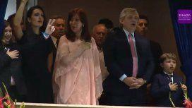 El gesto peronista de uno de los hijos de Kicillof que celebró Cristina Kirchner