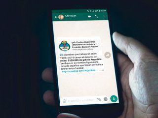 tiene derecho a $120.000 si trabajo entre 1990 y 2019, la estafa viral de whatsapp