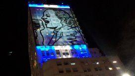 Vuelven a encender la imagen de Evita en el Ministerio de Desarrollo Social