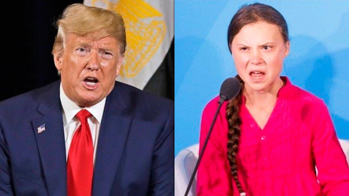 Trump le recomendó a Greta Thunberg que vaya al cine y que se relaje