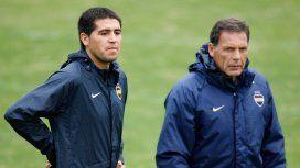 Juan Román Riquelme y Miguel Ángel Russo