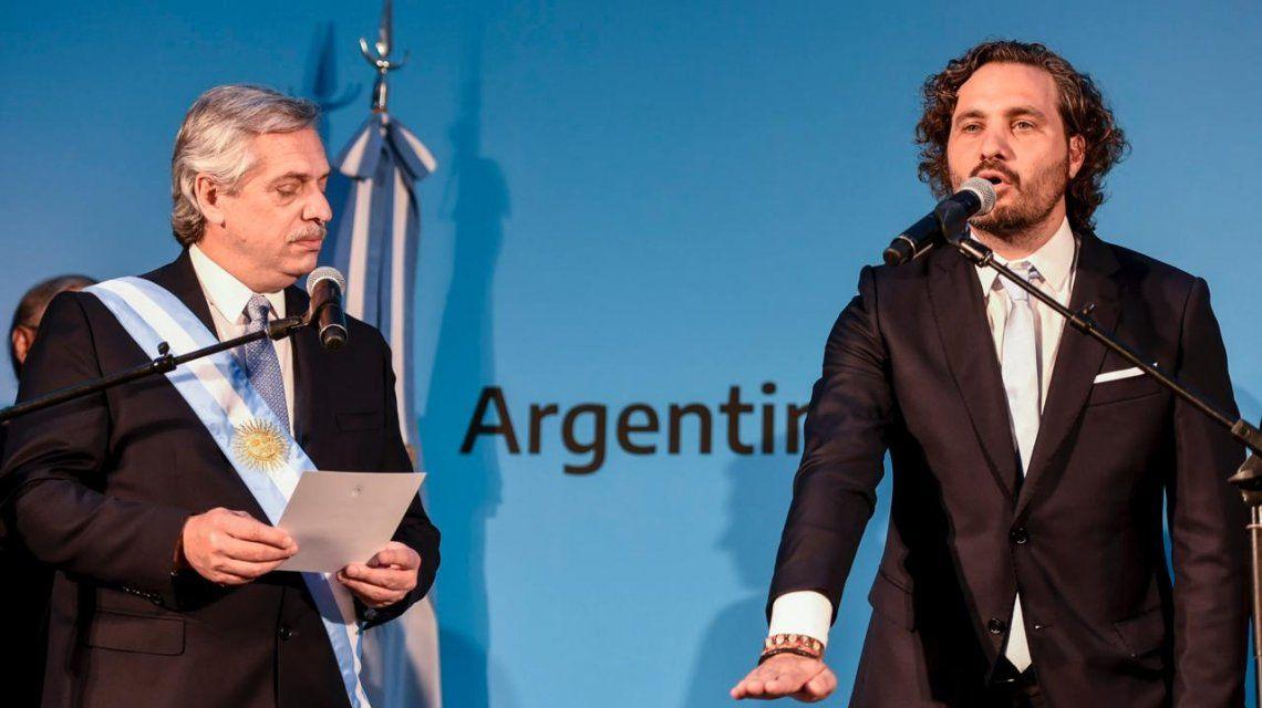 Santiago Cafiero juraba como jefe de Gabinete ante Alberto Fernández