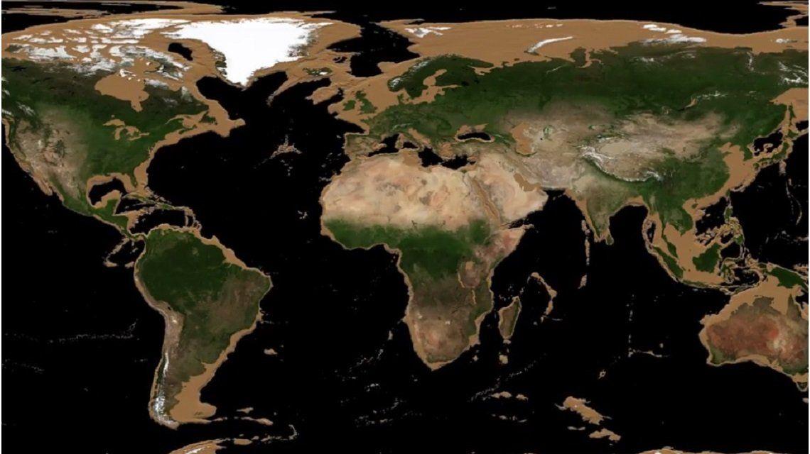 VIDEO: Así sería la Tierra sin océanos